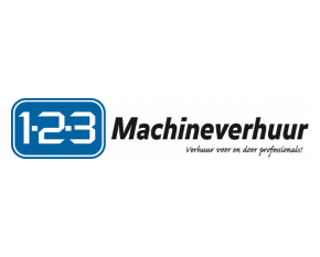 123 machineverhuur logo